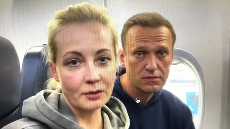 """Навални бе задържан на летище """"Шереметиево"""" в Москва"""