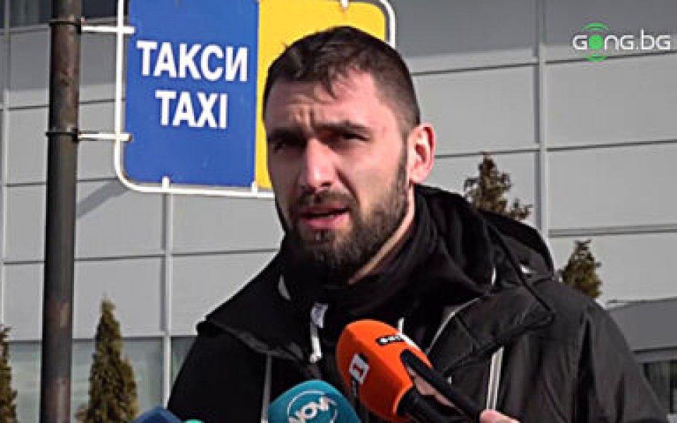 Капитанът на националния отбор Цветан Соколов говори след пристигането на