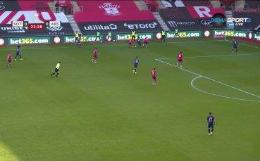Саутхемптън - Арсенал 1:0 /първо полувреме/