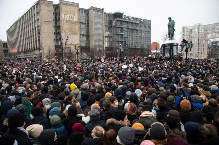 Хиляди протестират в подкрепа на Навални в Русия
