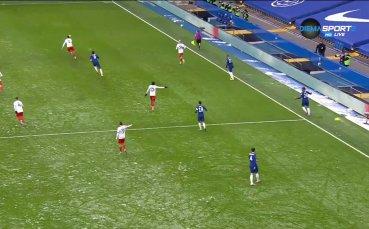 С ранно попадение Ейбрахам изведе Челси напред