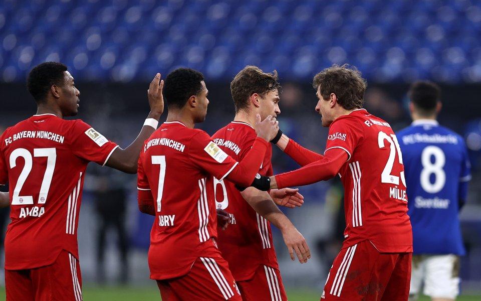 Отборите на Шалке и Байерн Мюнхен играят при резултат 0:1в