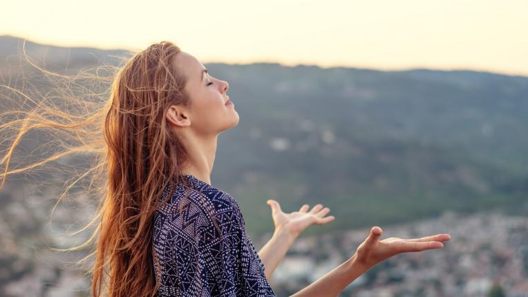 жена природа щастие