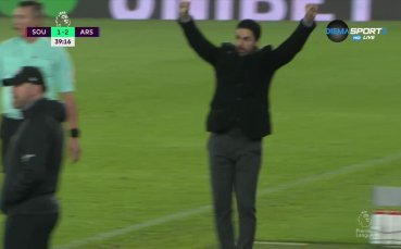 Сака направи резултата 2:1 в полза на Арсенал