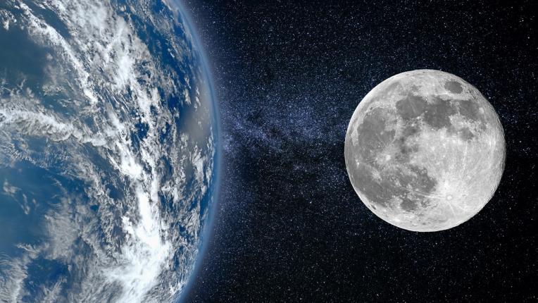 Земя небе Луна космос планета планети