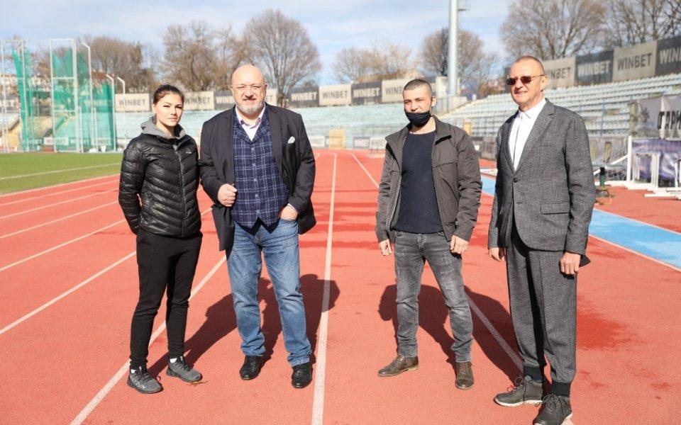 Министърът на младежта и спорта Красен Кралев и народният представител