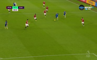 Евертън върна един гол срещу Ман Юнайтед
