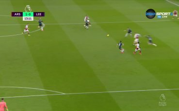 Ефектна комбинация: Арсенал откри на Лийдс