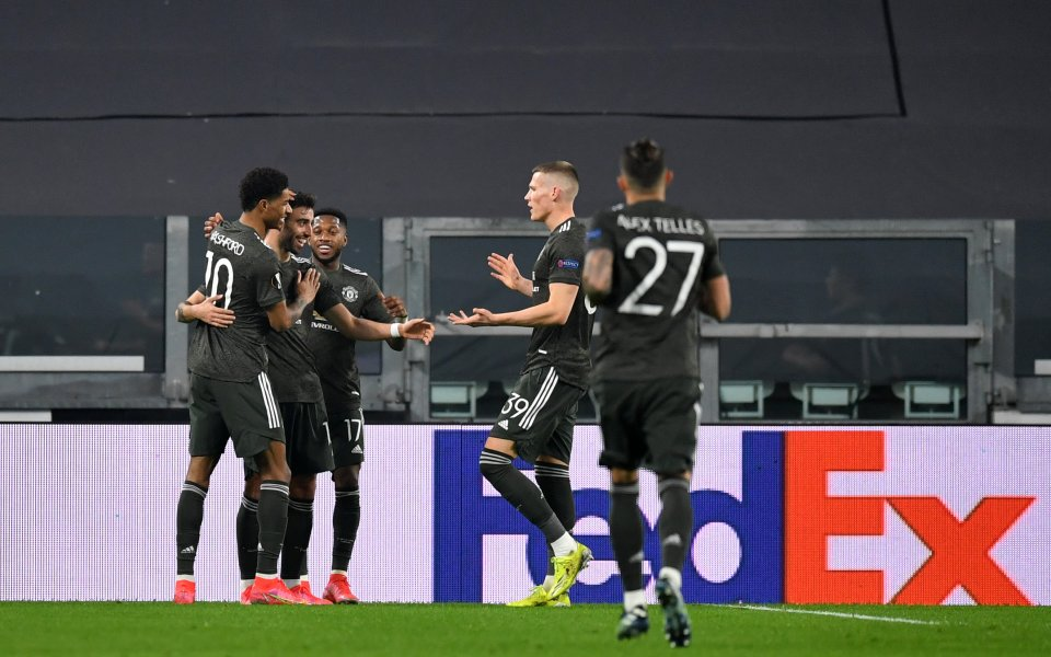 Отборите на Реал Сосиедад и Манчестър Юнайтед играят при резултат