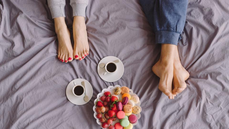 двойка дневен закуска храна връзка