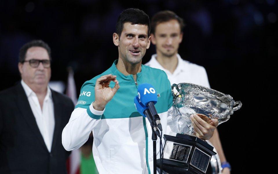 Новак Джокович започна рекордна 311-а седмица на върха на световната