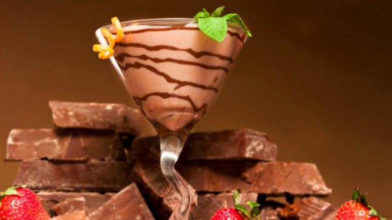шоколадово мартини коктейл Бейлис водка опиянение шейкър ванилия наздравица