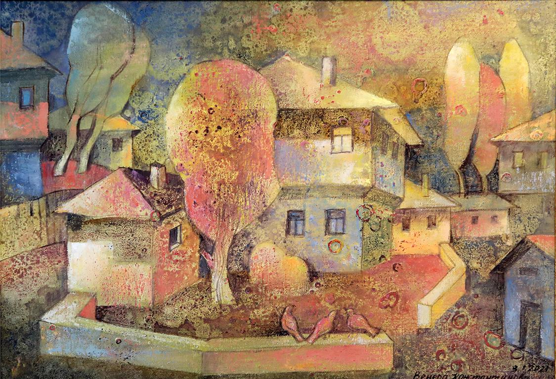 <p>Изложбата ми е вдъхновена от многобройните ми и незабравими пътувания по пътеките и чудните селища на Родопите.</p>