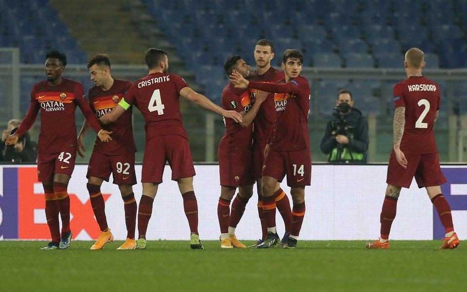 Рома постигна нова победа над Брага, печелейки с 3:1 1/16-финалния