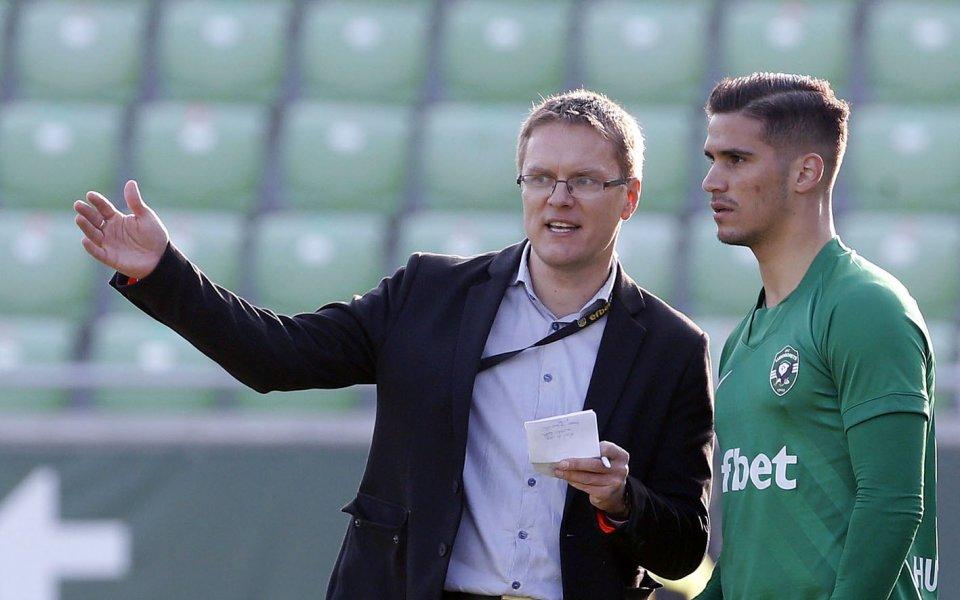 Новият вратар на Лудогорец Кристиян Кахлина разкри, че лично треньорът