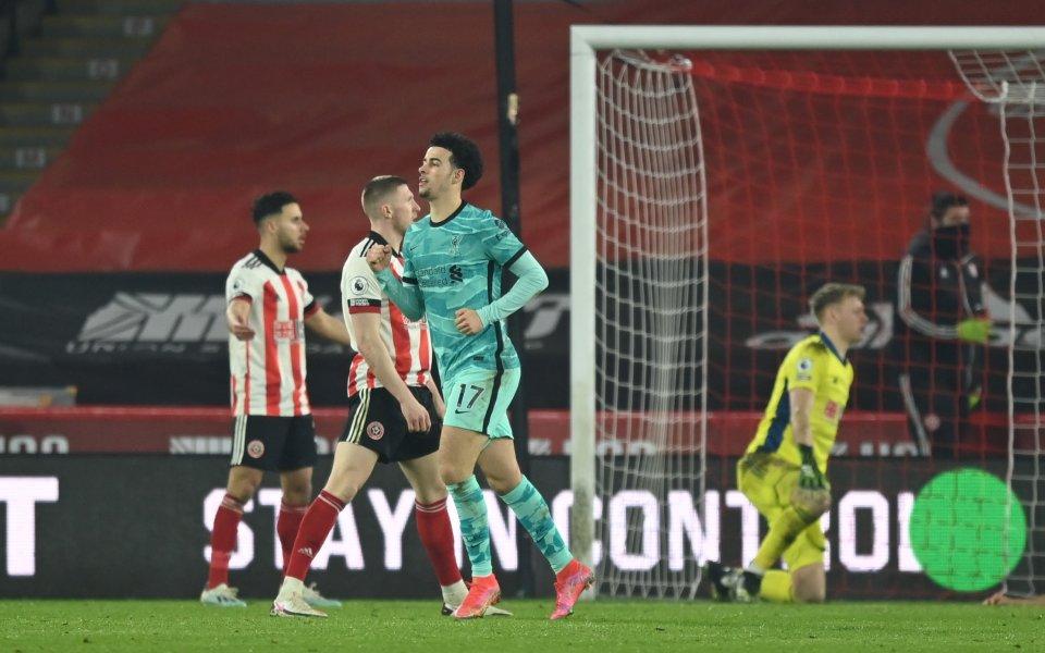 Отборите на Шефилд Юнайтед и Ливърпул играят при резултат 0:1в