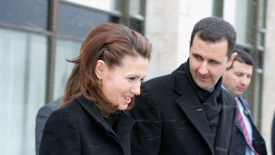 Башар Асад и съпругата му Асма