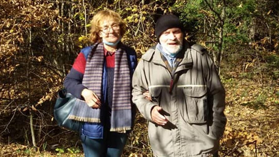 Румяна Коларова и съпругът ѝ