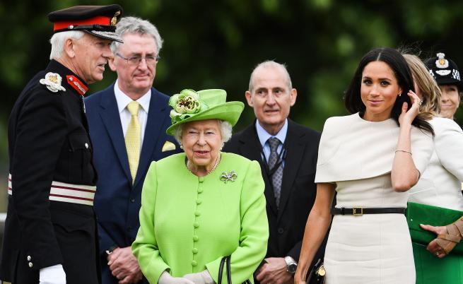 Меган Маркъл и Кралица Елизабет II