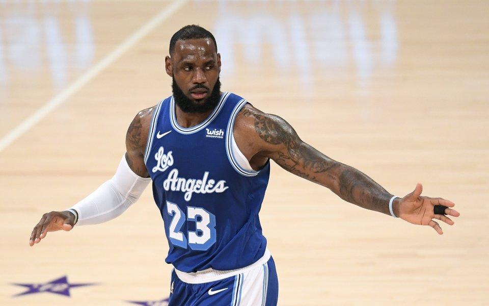 Звездата на НБА и ЛА Лейкърс - ЛеБрон Джеймс и