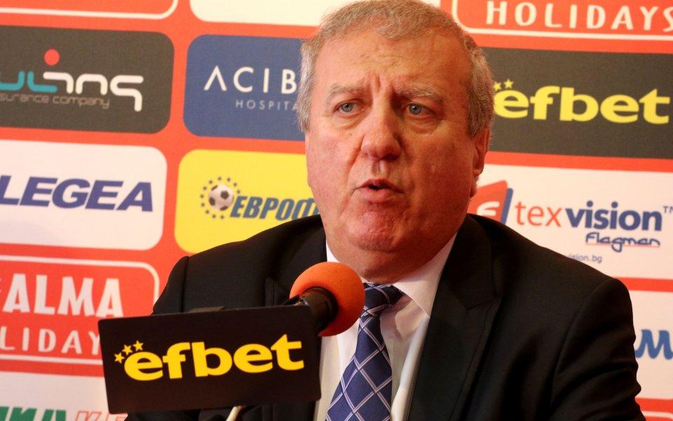 Бившият президент на ЦСКА Александър Томов направи любопитно изказване относно
