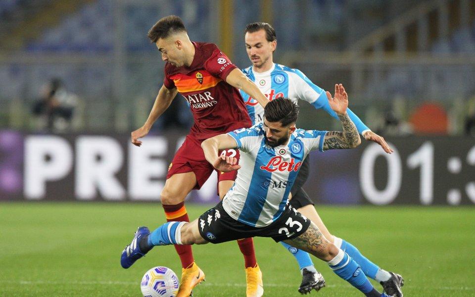 Рома и Наполи играят при 0:1в мач от 28-ия кръг