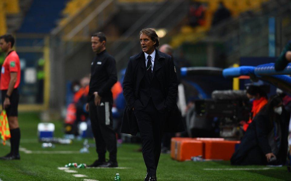 Селекционерът на Италия РобертоМанчиниостана доволен от победата над Северна Ирландия