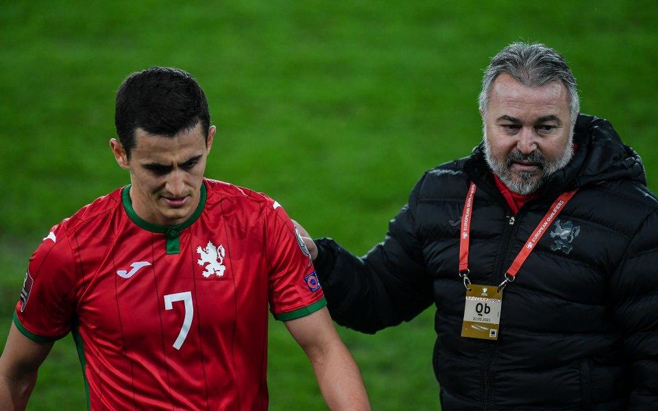 Капитанът на националния отбор на България по футбол Георги Костадинов