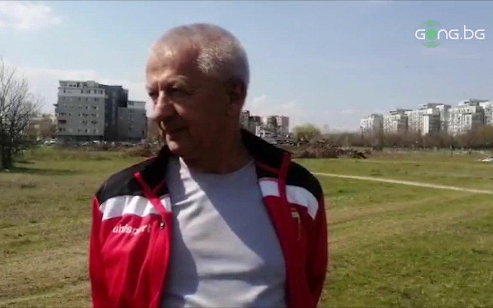 Президентът на Локомотив ПловдивХристо Крушарски инспектира имота в Тракия, на