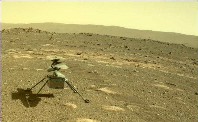 Марсианският хеликоптер с нов рекорден полет