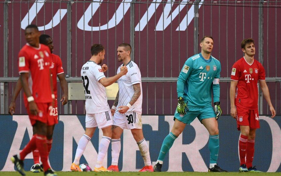 Отборът на Байерн Мюнхен не успя да победи у дома