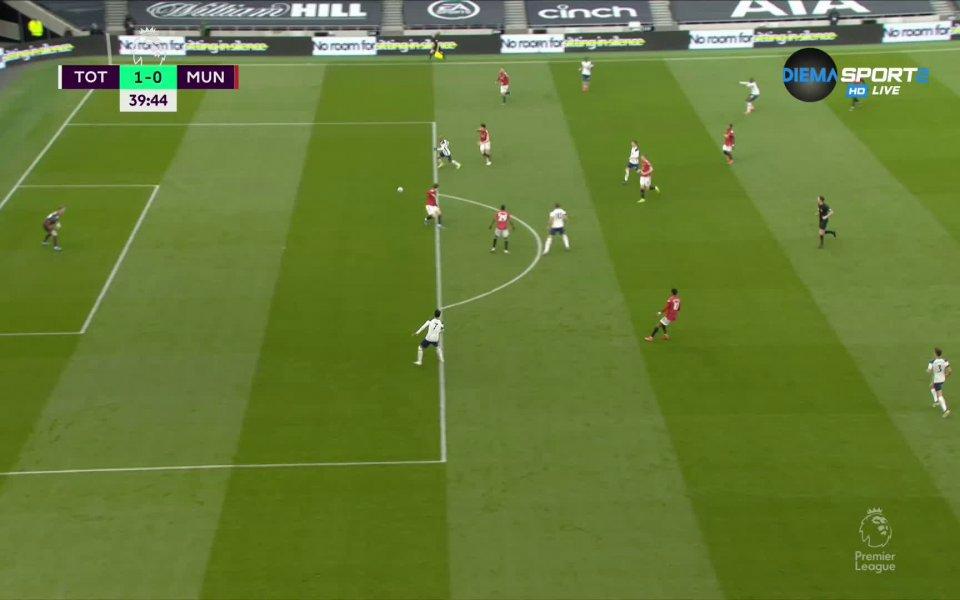 Тотнъм - Манчестър Юнайтед 1:0 /първо полувреме/