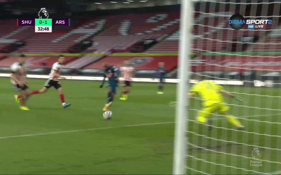 Шефилд Ю - Арсенал 0:1 /първо полувреме/
