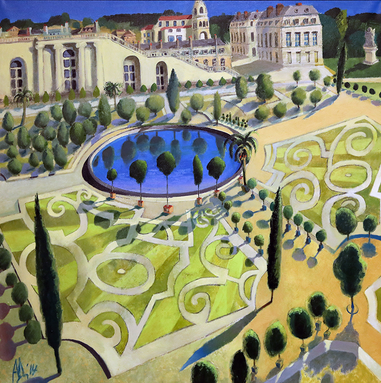 <p>Задният двор на Версай, 2014 г.</p>