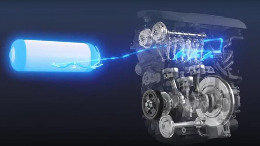 <p>Toyota тества двигател с вътрешно горене на водород</p>