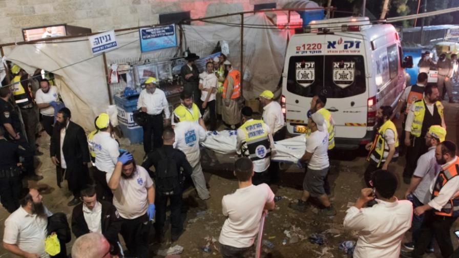 Десетки загинаха при срутване на трибуна в Израел
