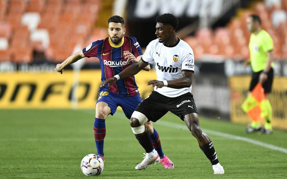 Барселона и Валенсия играят при 0:1в двубой от деветия кръг