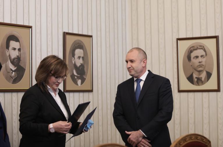 мандат БСП президент Румен Радев