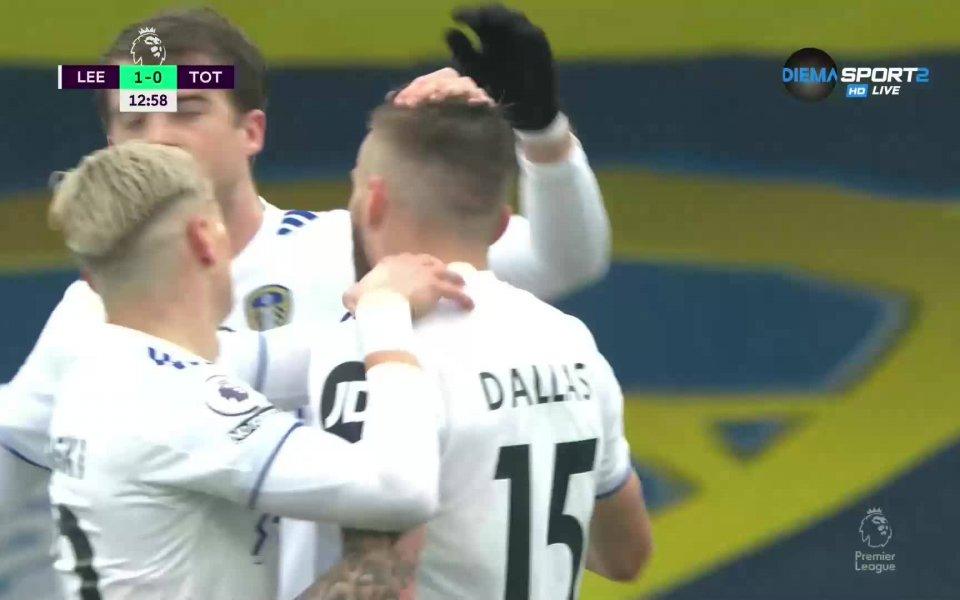 В 13-ата минута Стюарт Далас изведе Лийдснапред в резултата срещу