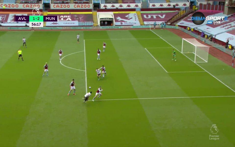 Манчестър Юнайтед победа с 3:1 Астън Вила в мач от