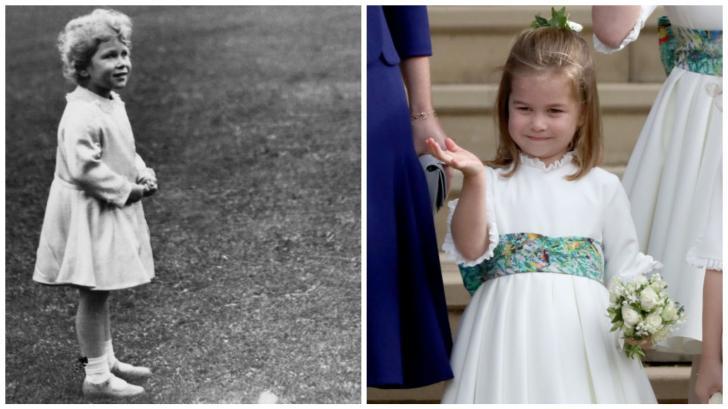 Двойничка на прабаба: моментите, в които принцеса Шарлот е малко копие на кралица Елизабет
