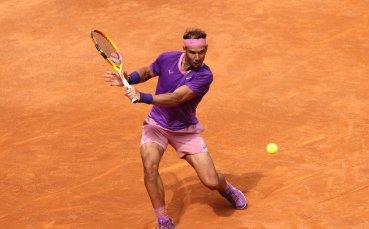 Надал спаси два мачбола и се класира за четвъртфиналите на Мастърса в Рим