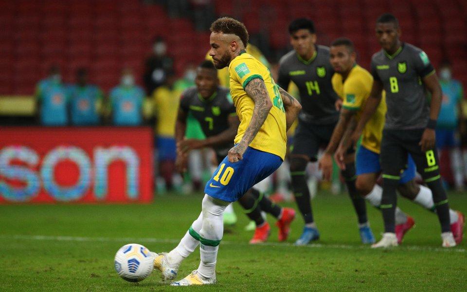 Бразилия победи с 2:0 Еквадор в квалификация за Световното първенство