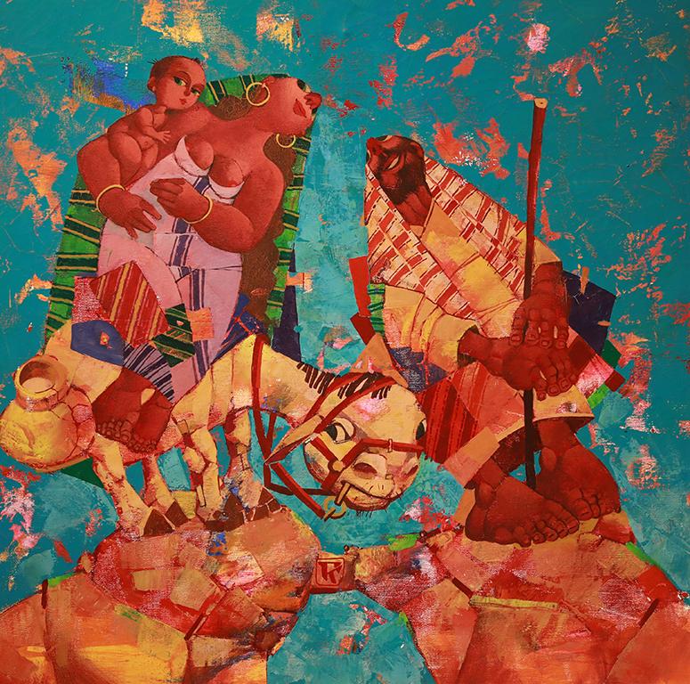 <p>Завръщане, 2000 &ndash; 2010 маслени бои, платно</p>