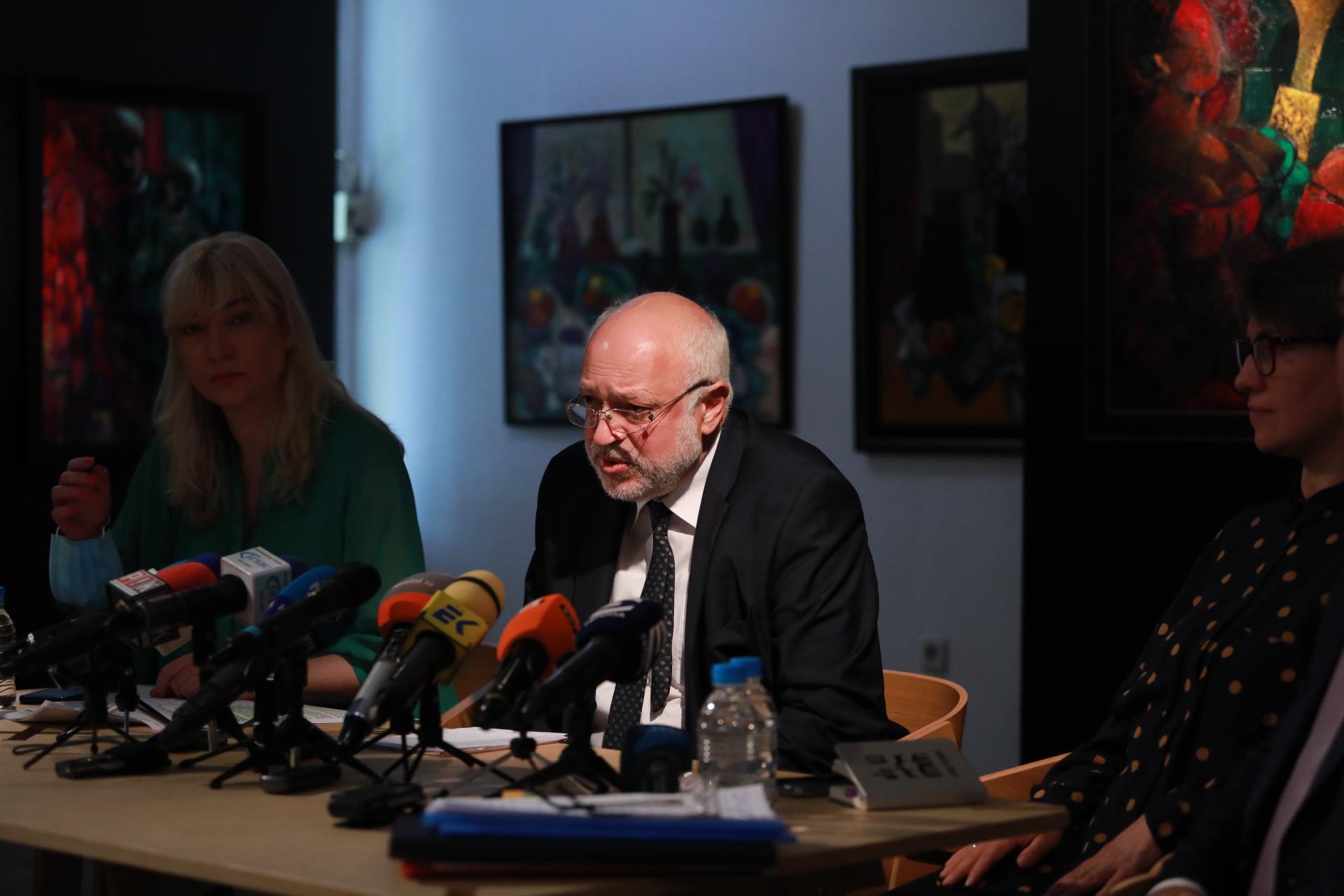<p>Брифинг служебният министър на културата Велислав Минеков</p>