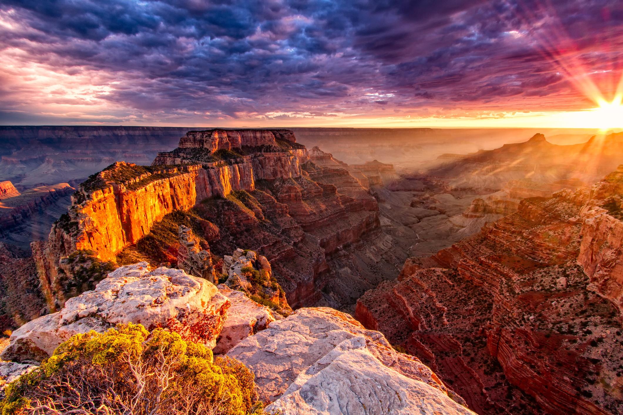 <p><strong>Големия каньон, САЩ</strong></p>  <p>Той е обявен за един от 11-те най-застрашени исторически обекта в САЩ от Националния тръст за опазване на историята поради амортизация от мащабния туризъм.</p>