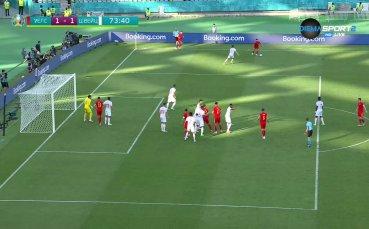 Голът на Кийфър Мур срещу Швейцария