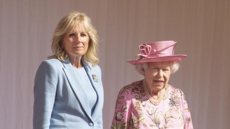 Джил и Джо Байдън на гости на кралица Елизабет