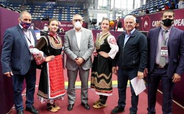 Министър Кузманов откри Европейското първенство по борба за кадети