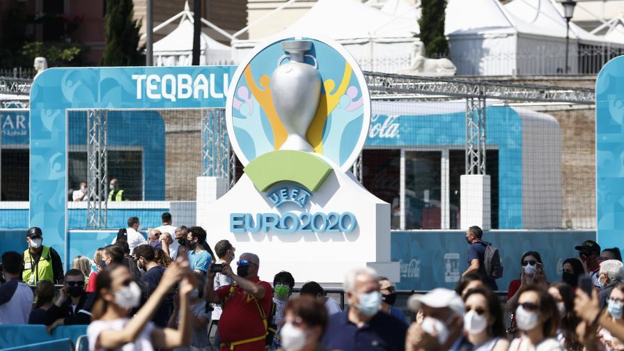 <p>Странен <strong>инцидент</strong> на една от срещите на <strong>UEFA EURO 2020</strong> (ВИДЕО)</p>